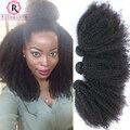 Mongolian Kinky Curly Virgem Cabelo 3 Pcs Mongol Feixes de Cabelo Encaracolado Afro Crespo Encaracolado Tecer Cabelo Humano Rosa Rainha Do Cabelo produtos