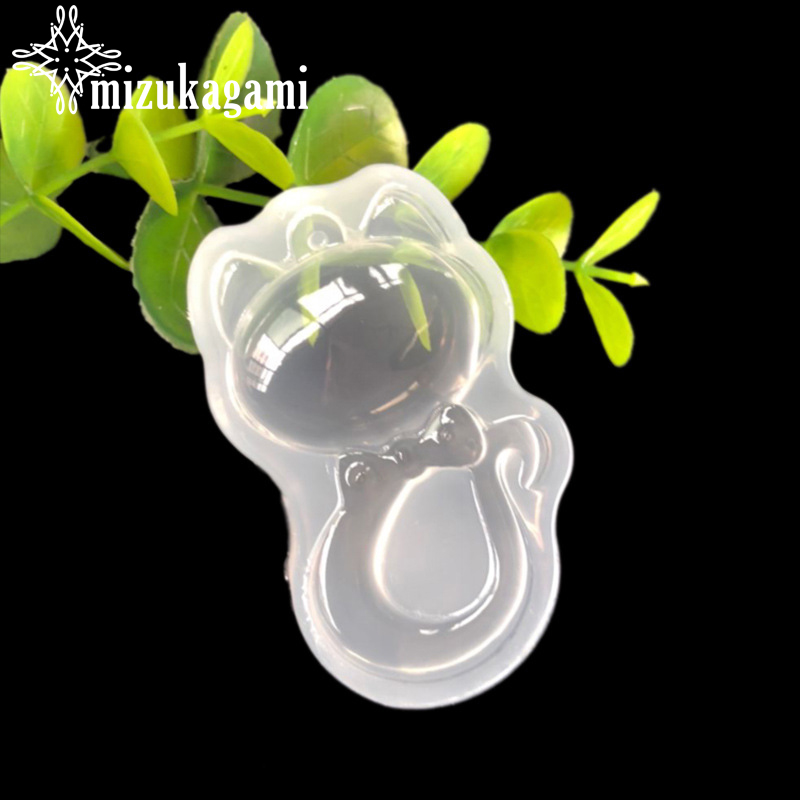 1pcs UV Resin Jewelry Liquid Silicone Mold Animal Cat Pendant Resin Charms Molds For DIY Intersperse Decorate Making Jewelry
