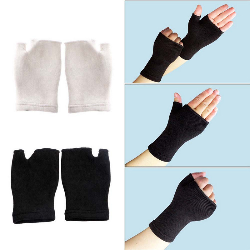 Mayitr 1Pair Elastic Palm Glove Hand Wrist Supports High Quality Latex Arthritis Brace Sport Sleeve 2 Colors