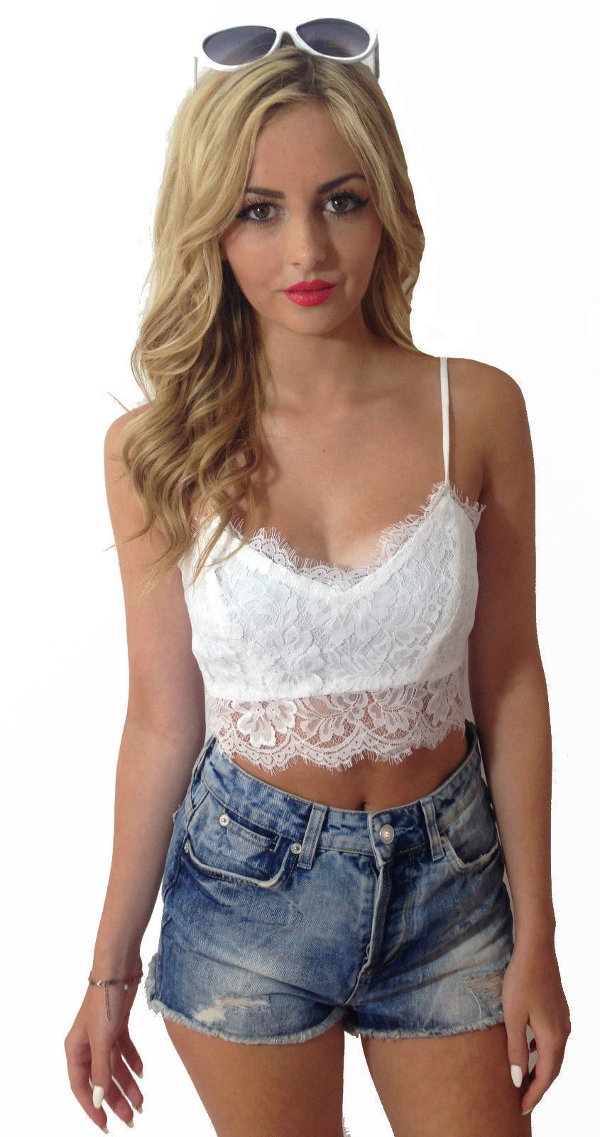 Sought-After Fashion Summer Lace Tops Sleeveless Blouse Casual Tank Tops Tee T-Shirt