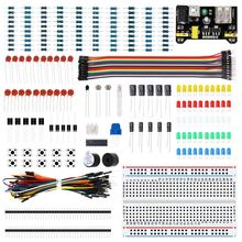 10 set/partij Elektronika Starter kit met Breadboard Kabel Weerstand, Condensator, LED, Potentiometer voor Arduino Mega Nano