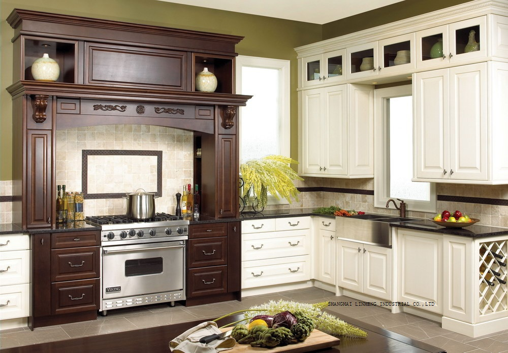 classical complete kitchen cabinet(LH-SW082)classical complete kitchen cabinet(LH-SW082)
