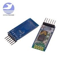 Frete grátis 20 pçs/lote HC05 HC 06 JY MCU anti reverso, módulo pass through serial Bluetooth integrado, HC 05 master slave 6pin