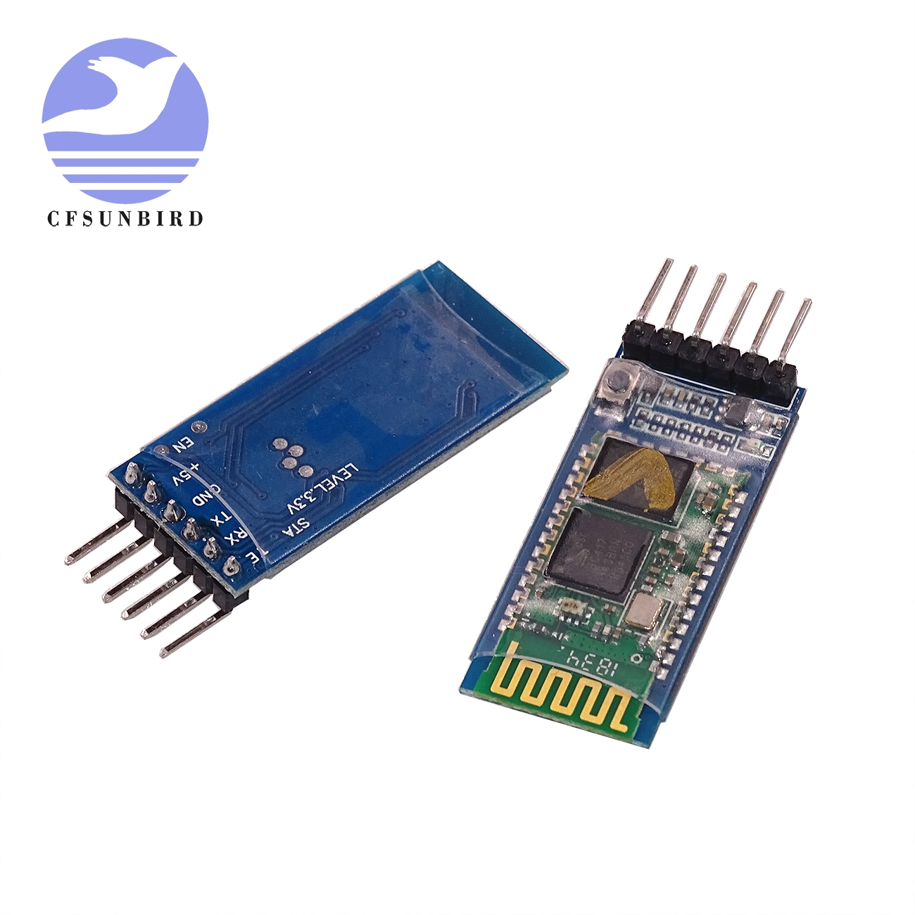 free shipping 20pcs/lot HC05 HC 06 JY MCU anti reverse, integrated Bluetooth serial pass through module, HC 05 master slave 6pin-in Integrated Circuits from Electronic Components & Supplies