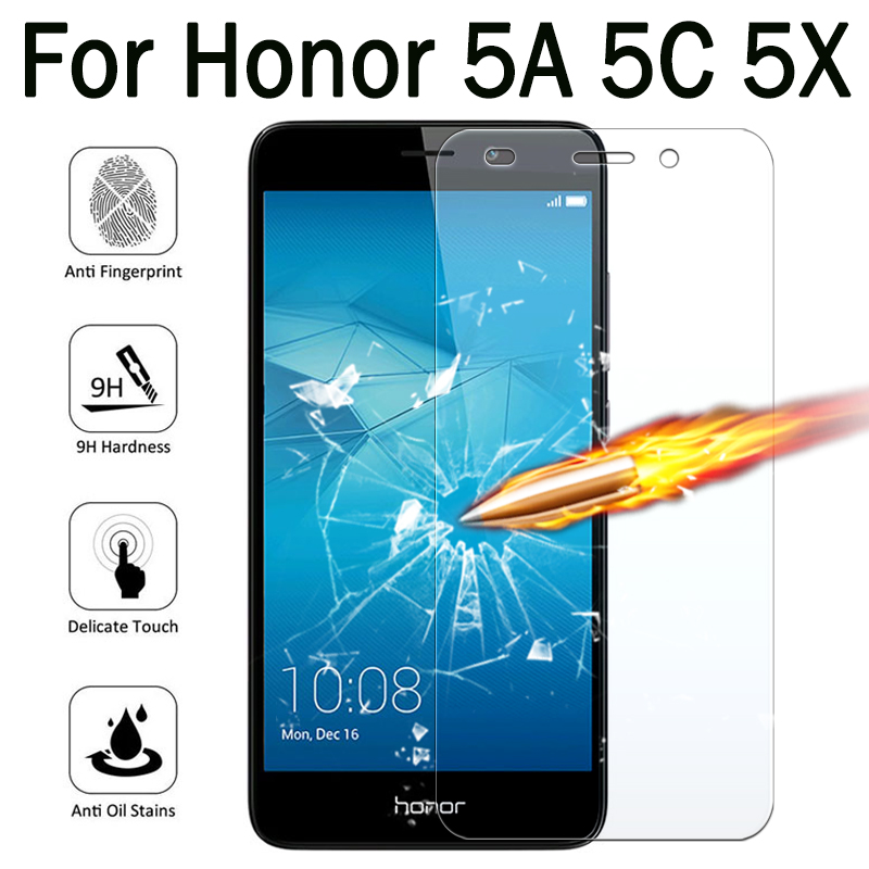 Glass 5A Honor 5X Protective Glass For Honor 5C Screen Protector Case On Huawie Honer 5 X C A A5 X5 C5 Honor5C 9H Tremp Glasses