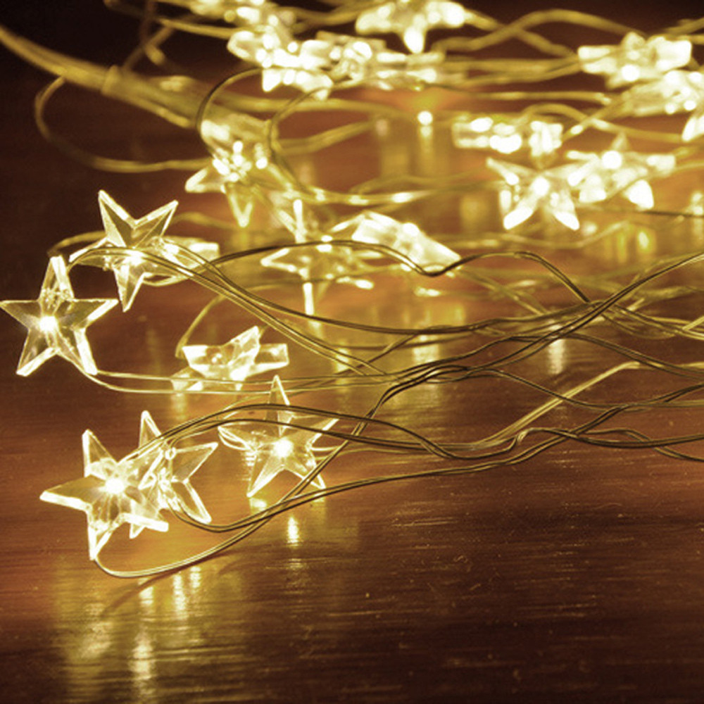 online retailer e94a1 d562b US $3.34 33% OFF|Star Light Cozy String Fairy Lights For Bedroom Party With  50 LED Beads Festival Garden Home Decoration Ornaments S*70-in Party DIY ...