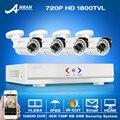 Novo! 4CH 1800TVL 1080N HDMI DVR CCTV System & 720 P HD Outdoor Câmera de Segurança À Prova de Intempéries de Vigilância De Vídeo Em Casa e-mail de Alarme