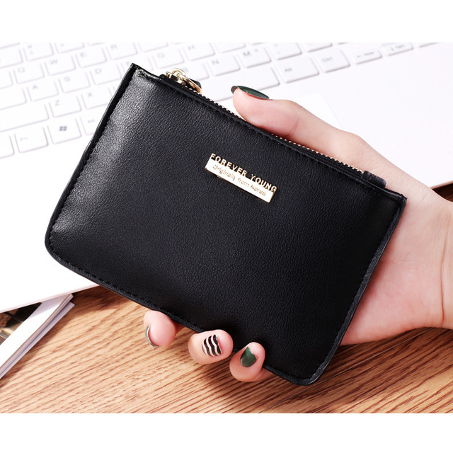 7cd1ce884 2018 New Women Female Small Fashion Wallets Zipper Coin Purse Plastic  Credit Bank ID Card Case Holder Money Bag Key Case Holder