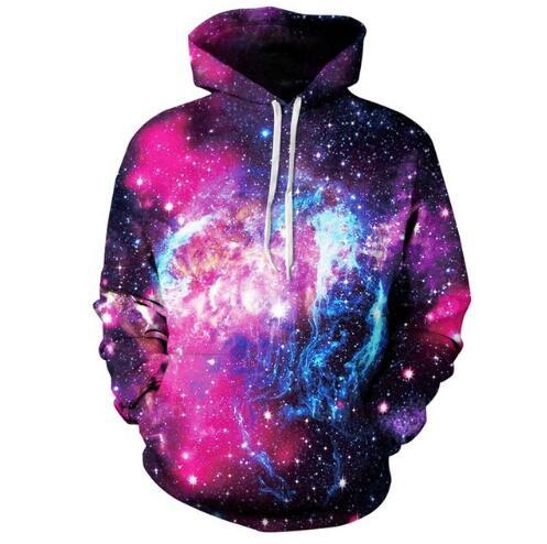 36b4d240e8d2d Nueva moda 3D Galaxia del espacio sudaderas para mujer para hombre Sudaderas  con sombrero impresión estrellas Nebula Otoño Invierno Sudaderas Tops en ...