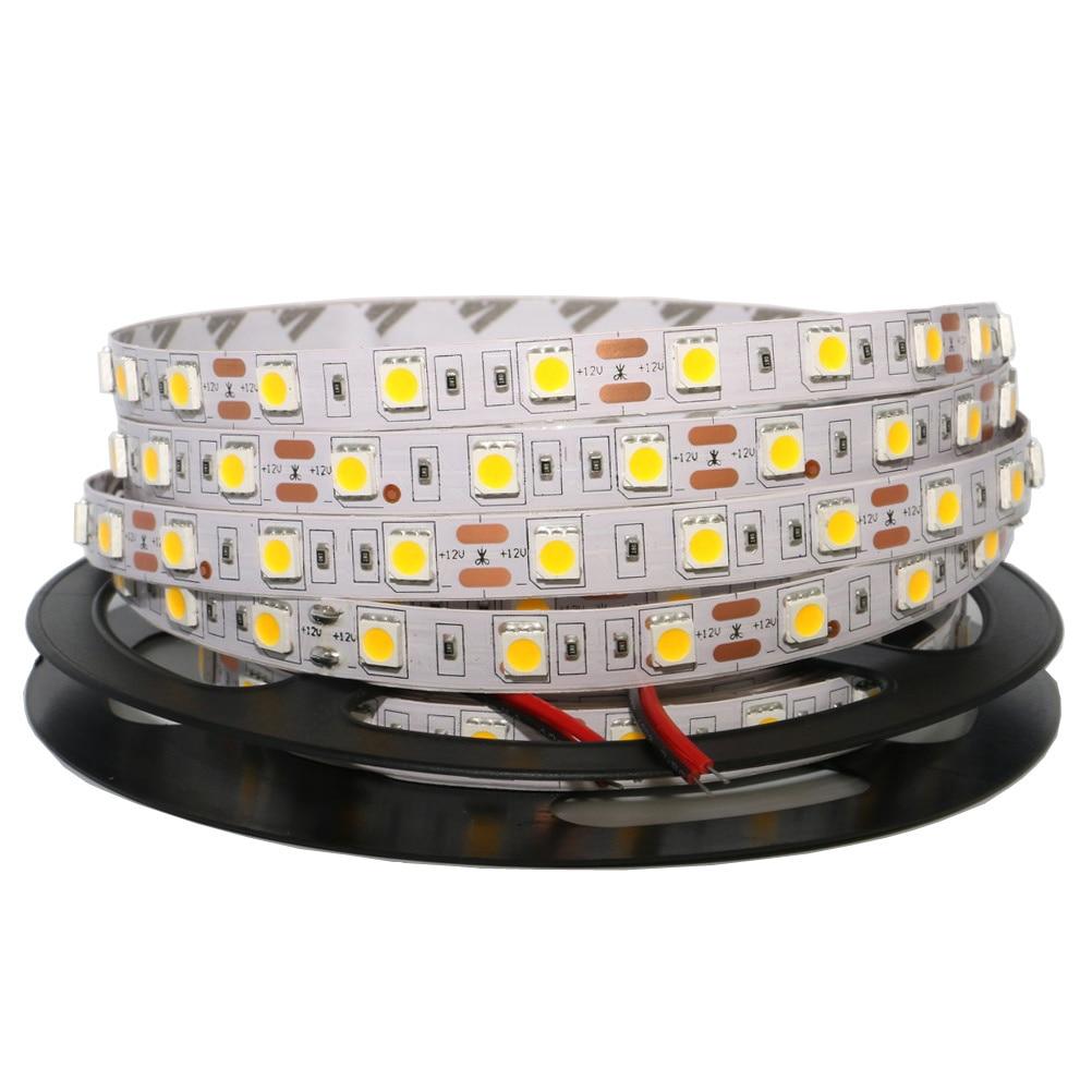 0.5/1/2/3/4/5M LED Strip Light 5050 SMD RGB Led Tape Not Waterproof Led Stripe Bar Light String Holiday Decoration Lights DC12V