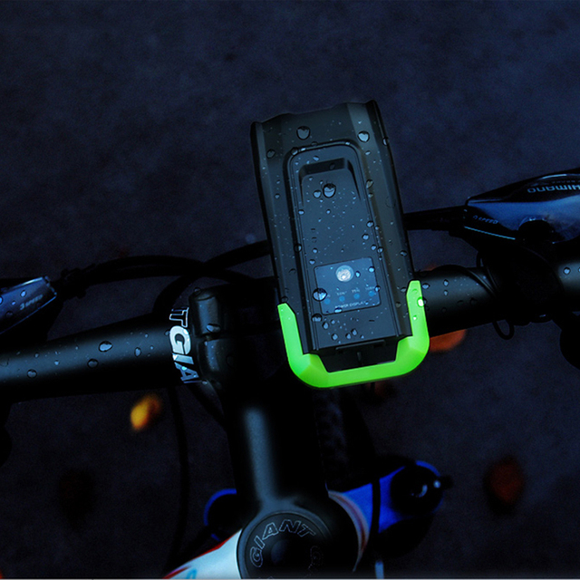 4000 mAh Inteligente Indução Luz Da Frente Da Bicicleta Conjunto USB Recarregável 800 Lumen LED Head Light com Chifre Da Bicicleta Lâmpada Ciclismo lanterna 4