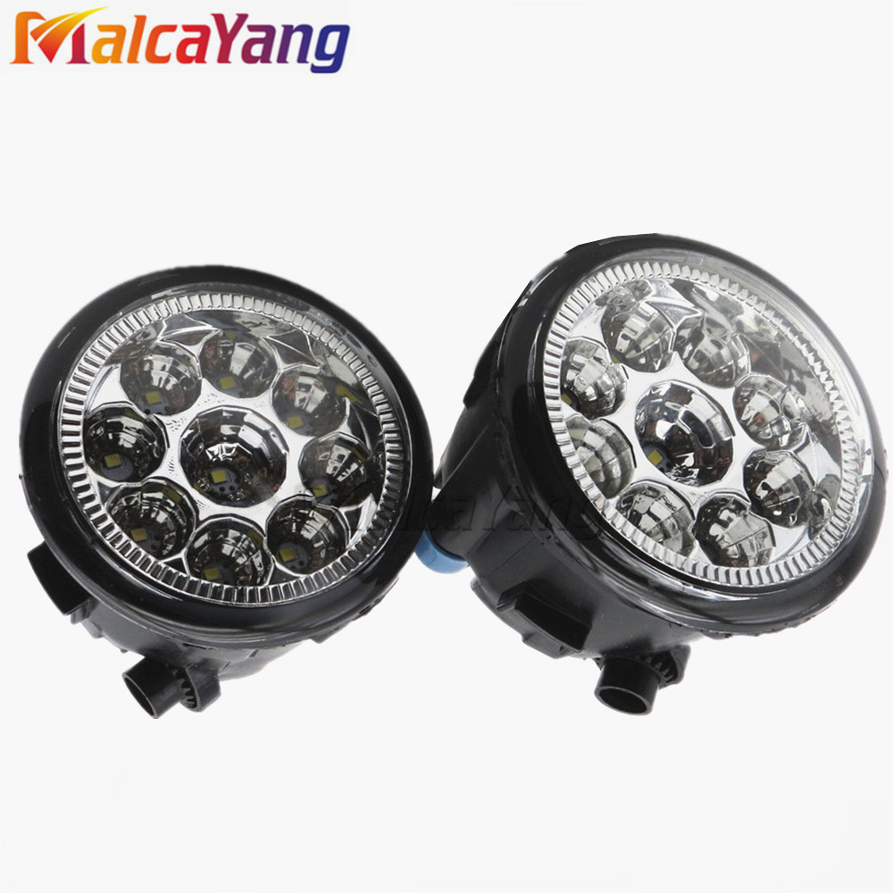 Car styling front bumper LED fog Lights high brightness fog lamps For NISSAN NOTE E11 MPV 2006-2015 for opel astra 2004 2014 lr2 car styling front bumper led fog lights high brightness fog lamps 1set