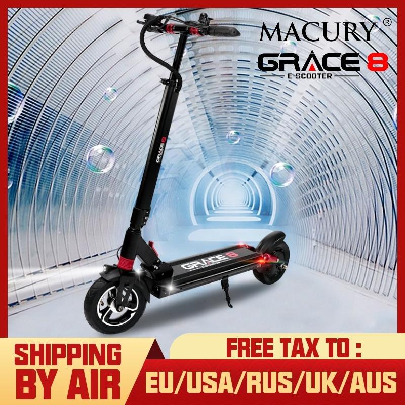 Macury Grace 8 Scooter électrique Hoverboard 2 roues 8 pouces 36 V 350 W 48 V 52 V 500 W adulte enfant zéro 8 T8 Kick Scooter Mini pliable