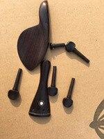 High quality 1/8 1/4 1/2 3/4 4/4 Ebony Violin parts violino tuner string board Chinrest Violin Accessory