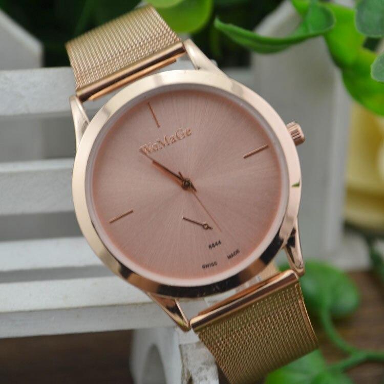 Rose Gold Ladies Wrist Watch Stainless Steel Rosefield Watch Party Dress Watches Relogio Feminino 2018 Round Business Watch