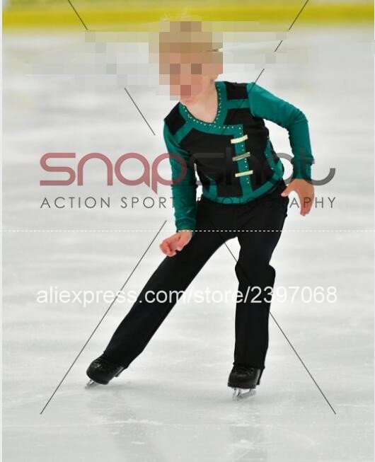 Ice Skating Suit Kids Ice Skating Suit Child Competition Ice Skating Suits Custom Boy Free Shipping B436