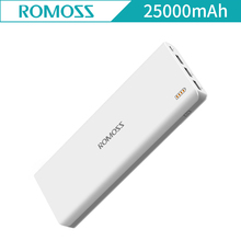 ROMOSS Sense9 25000mAh External Battery Power Bank 3 USB Charging Port for iPhone Xiaomi iphone X 7 plus Sense 9 powerbank