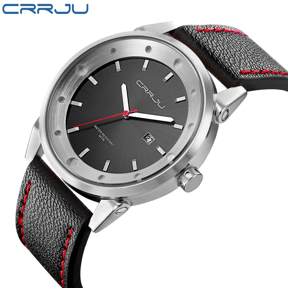 Genuine Leather Band Men Watches Luxury Brand Waterproof Men's Wristwatch High quality Quartz Watch relogio masculino Clock Gift
