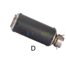 2 Inch Universal Motorcycle Exhaust Pipe Muffler Carbon Fiber For Ducati 1098/1098 S/1098 Tricolor 749/749S/749R