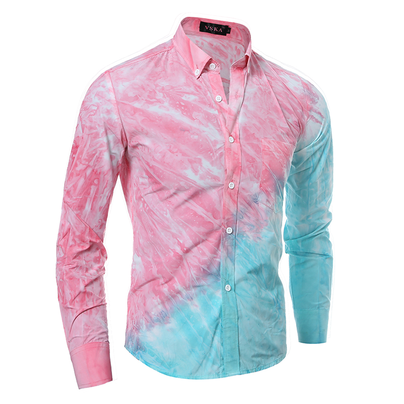 Online Get Cheap Pink Printed Dress Shirt for Men -Aliexpress.com ...