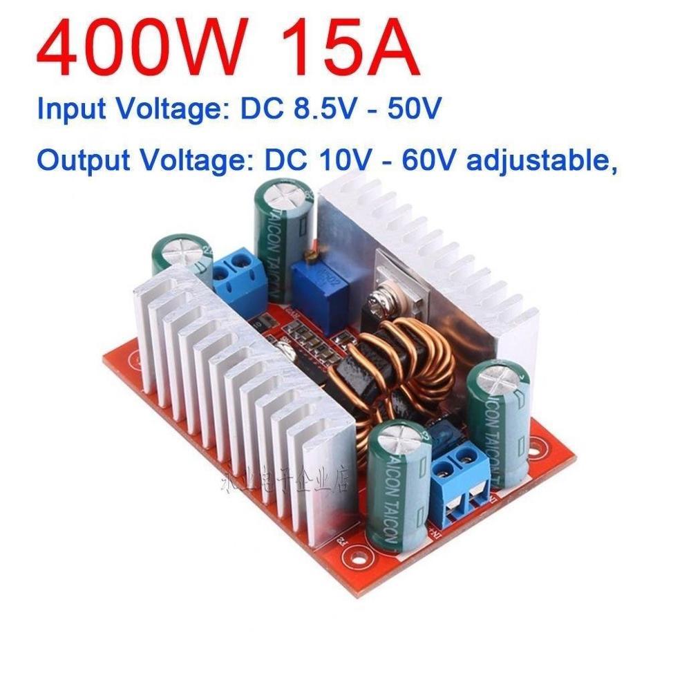 DYKB 400W 15A DC-DC Boost Converter Constant Current Power Supply 12V 15V 19V 24V 36V 48V LED Driver Voltage Battery Charging