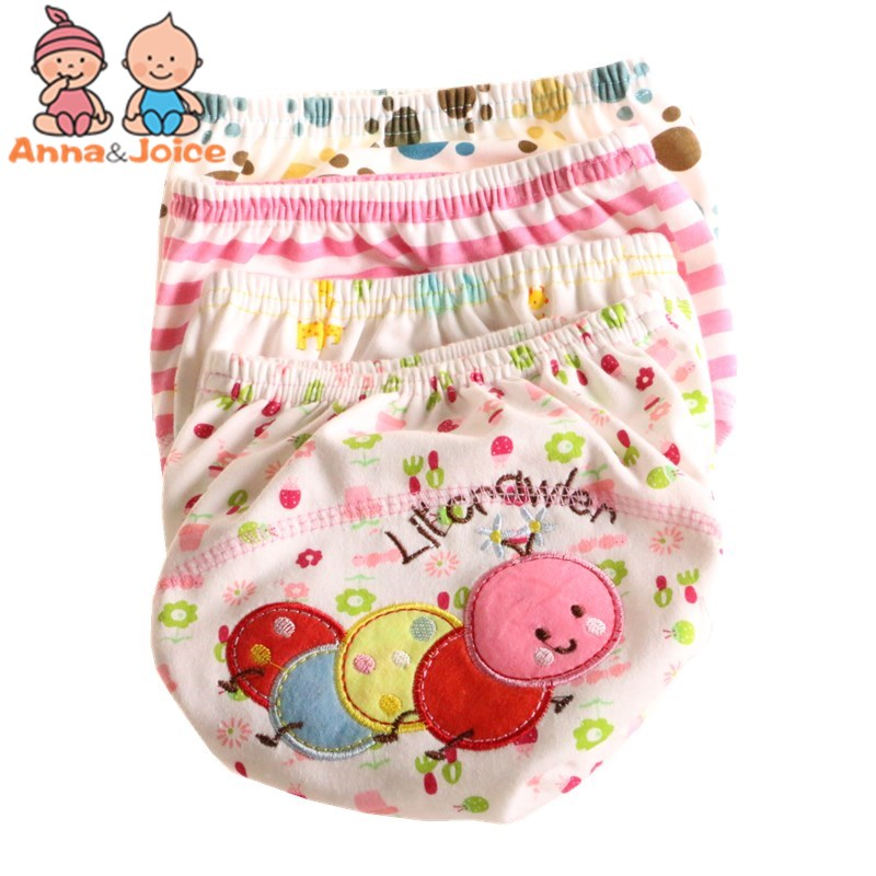 30Pcs lot Baby Training Pant Baby Cartoon Underwear Cotton Learning study Infant Pants Size 100 Suit