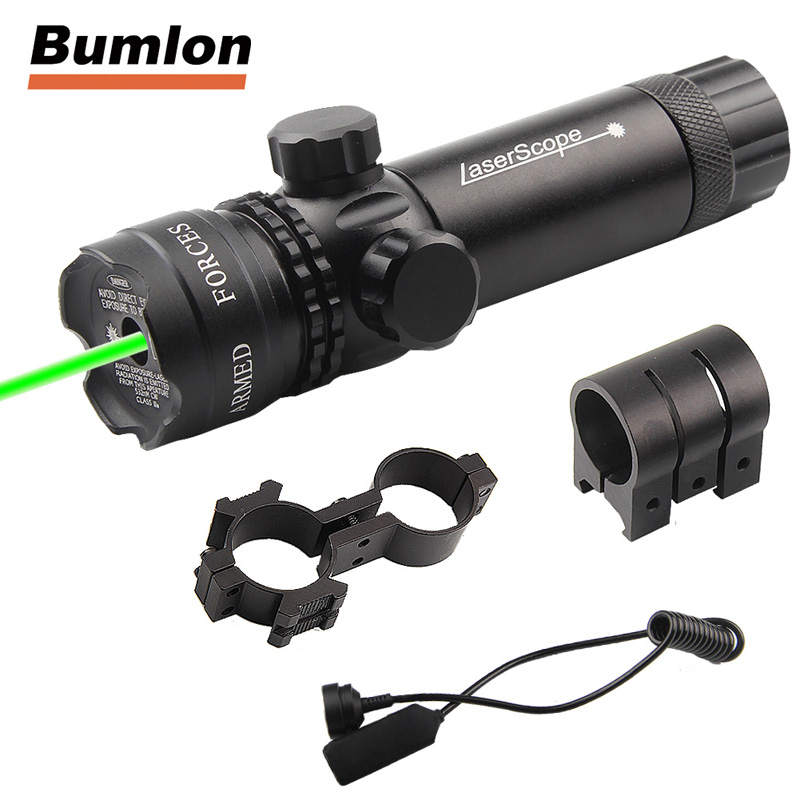 Tactical Red Green Laser Sight Scope With Mount Remote Pressure Switch 20mm Picatinny Rail For Hunting Airsoft RL3-0001