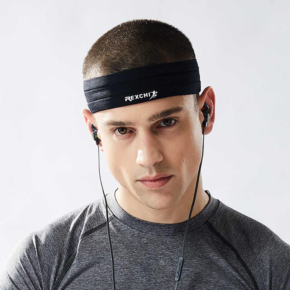 Повязка на голову Унисекс Спортивный Браслет Напульсник повязка на голову Йога баскетбольный спортзал Спорт растягивающаяся голова повязка для волос sweatband hoofd