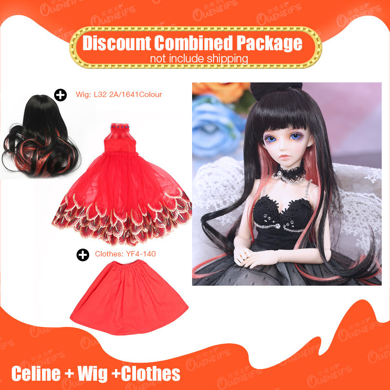 OUENEIFS 1/4 BJD SD Doll Fairyland Minifee Celine With Wig Beautiful Clothes Discount Combined Package FL Fashion Resin Toys кукла bjd fl fairyland feeple moe60 celine bjd sd doll soom luts