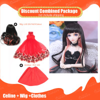 OUENEIFS 1/4 bjd sd doll Fairyland Minifee Celine add Wig and beautiful Clothes Discount Combined Package FL Fashion doll