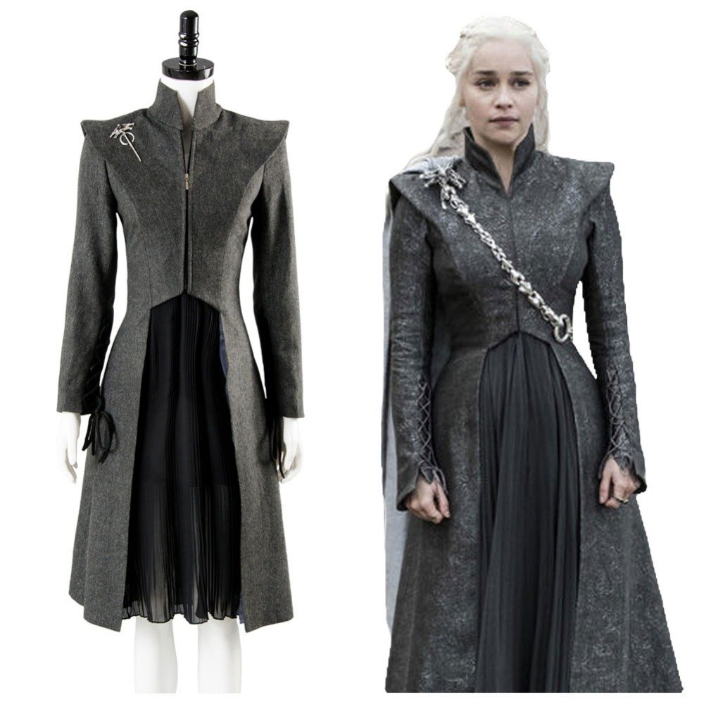 Daenerys Targaryen cosplay costume custom made Halloween Dress suit Cosplay Game of Thrones Season 7 costume dress full set
