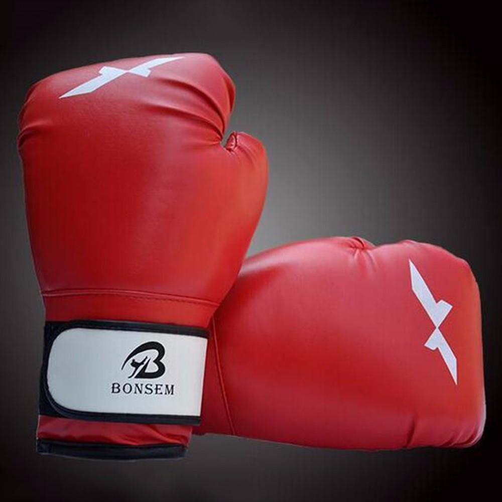 1 Pair Training Boxing Gloves New Style Boxing Mitts Sanda Karate Sandbag Taekwondo Fighting Hand Protector Gloves 9