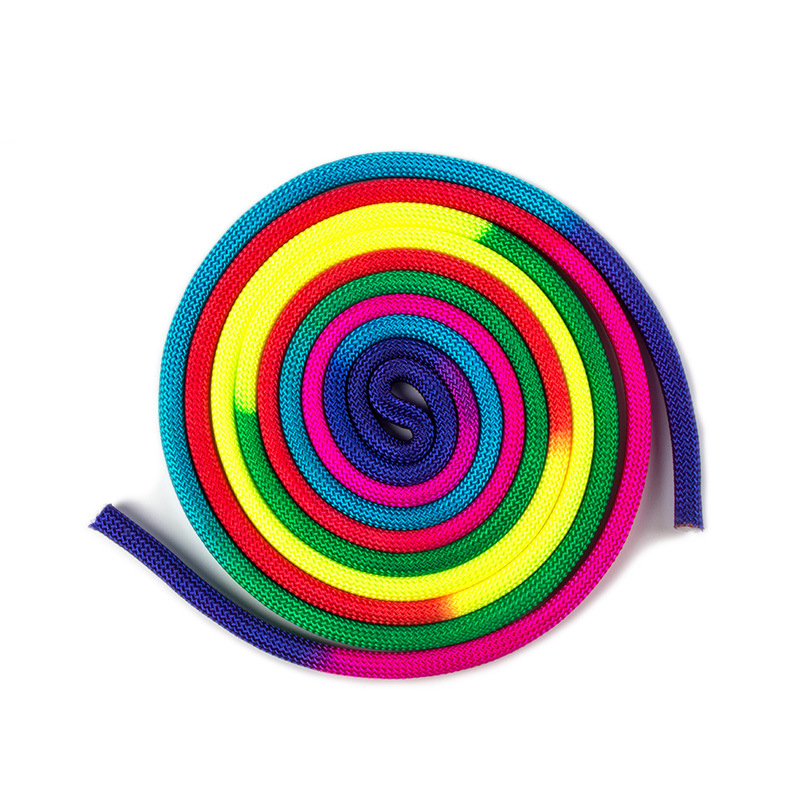 10mm 3m Solid color Gradual Change Artistic Gymnastics Rope Training Competition Special Gymnastics Ribbons Professional Sport A in Gymnastics from Sports Entertainment