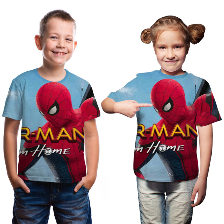 boy's-t-shirt-children's-clothes-kid's-t-shirt-for-boys-summer-fashion-font-b-marvel-b-font-spider-man-short-sleeves-unisex-boy's-girl's-tops