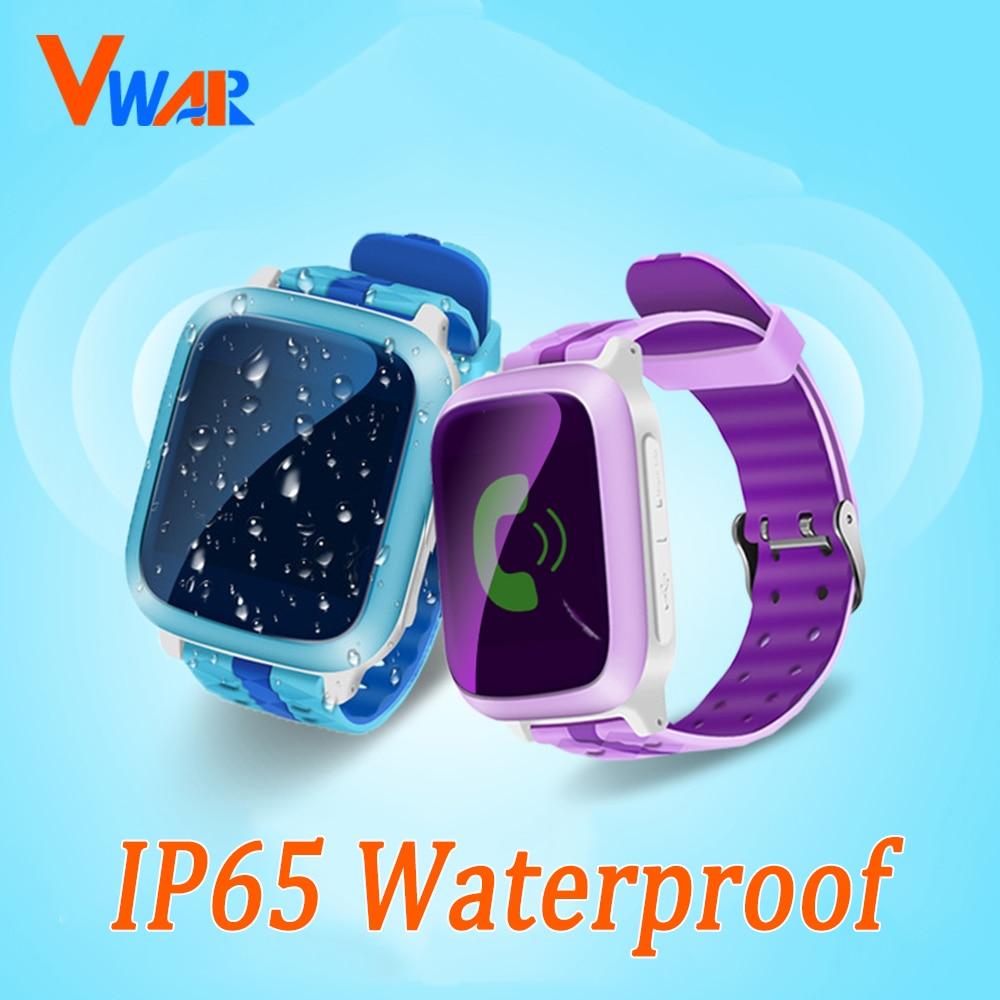 imágenes para Vwar Vm10 Impermeable Reloj Inteligente Bebé Monitor SOS Teléfono Smartwatch Regalo Del Niño Del Bebé anti-perdida smartwatch Reloj GPS pk q750 Q50