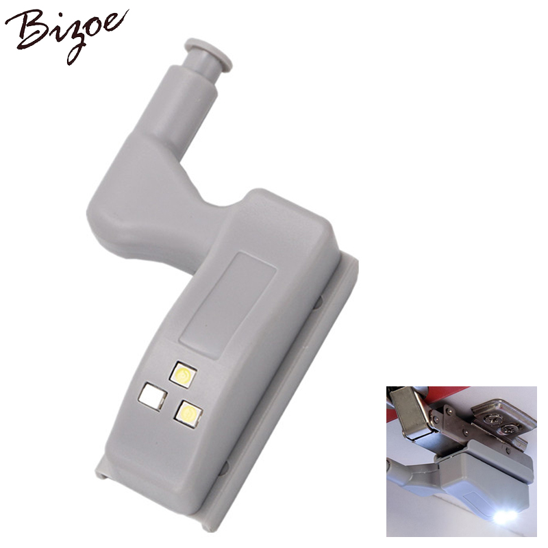 5PCS Packs Inner Hinge LED Sensor Under Cabinet Lights For Kitchen Bedroom Closet Wardrobe Night Light Battery Operated