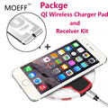 5V Universal QI Wireless Charger Phone Charging Pad Wireless Charger Receiver kit Coil Ultra Thin  USB  For iphone 5s 5C 6 plus