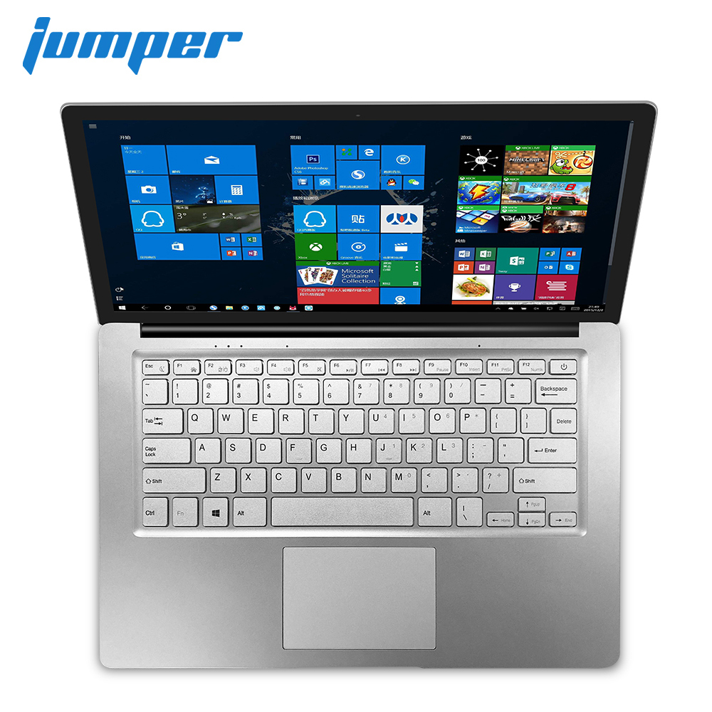 14 Inch Screen Notebook Jumper EZbook S4 Laptop Intel Celeron J3160 Ultrabook 4GB RAM 256GB SSD ROM Dual Band WIFI Computer