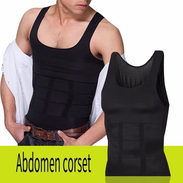 7b2b6ce29 رجل صائغي الجسم النحت سترة ضئيلة ن رفع فقدان الوزن قميص ضغط العضلات تانك ملابس  داخلية