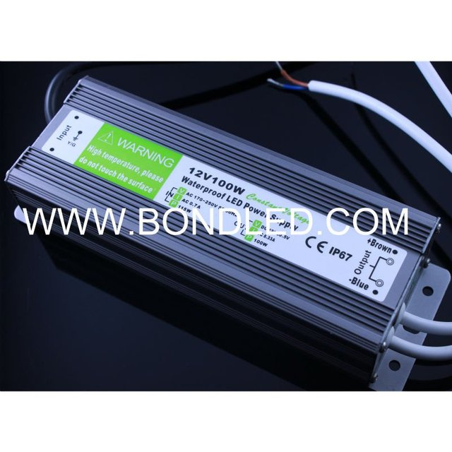 Promotion price Waterproof Electronic LED Driver Transformer Power Supply 12V 100W 8.3A