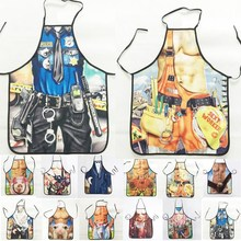 1Pcs Fashion Sexy Man Muscle Printed Apron Bibs Home Cooking Baking Party Funny Cleaning Aprons Kitchen Accessories 46094