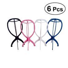 Hanger-Tools Hair-Hat Plastic Random-Color Cap-Holder Wig Stand Display Support 6pcs
