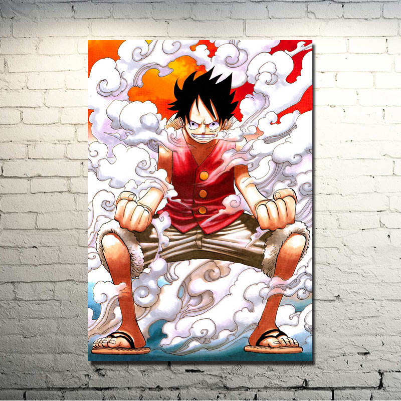 ONE PIECE Monkey D Luffy Home Decor Poster Wall Scroll  60X90 cm