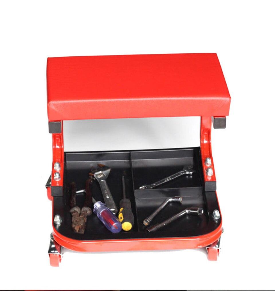 Image 4 - Автомобильное кресло для гаража, красное кресло для ремонта автомобиля с колесами, магазин стульев, MO 601-in Наклейки на автомобиль from Автомобили и мотоциклы