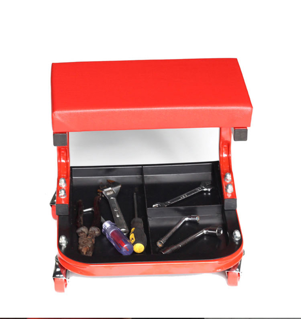 Image 4 - Car Wrap Apllication Garage seat,Red Car Repair Chair With Wheels Shop Sooper Chairs MO 601-in Car Stickers from Automobiles & Motorcycles