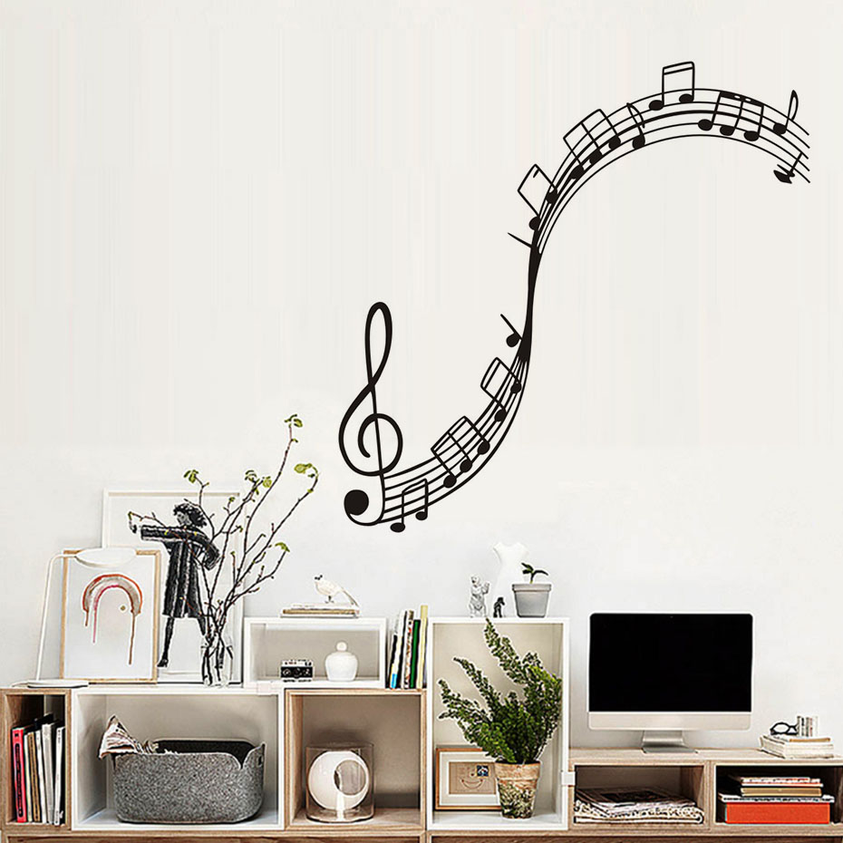 Aliexpress Com Hot Y Music Vinyl Wall Woman Black Headphones Singer Bedroom Mural Art Sticker Home Decoration From Reliable Stickers