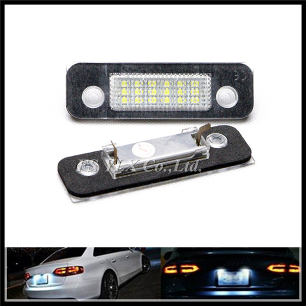 Exact Fit White 18 LED License Plate Light Lamps for Ford Fusion Fiesta Mondeo MK2 number Lights