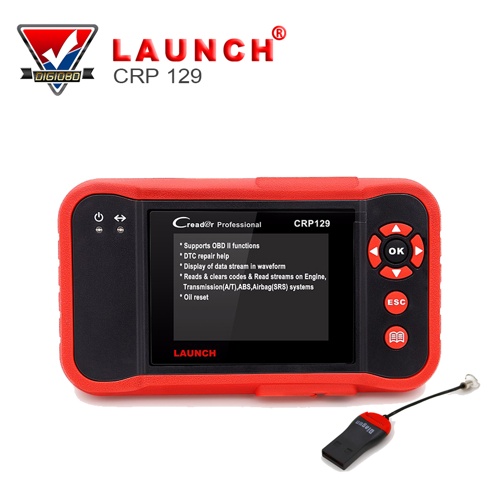 Original Launch X431 Creader CRP129 Car Scanner OBDII Diagnostic Tool Auto Code Readers Support 4 System