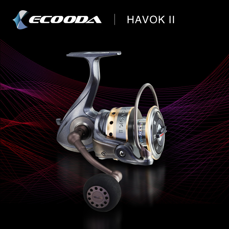 Ecooda Brand Deep line Cup Spinning Fishing Reel Low gear ratio 5.1:1 Super Strong Saltewater Fishing Reel