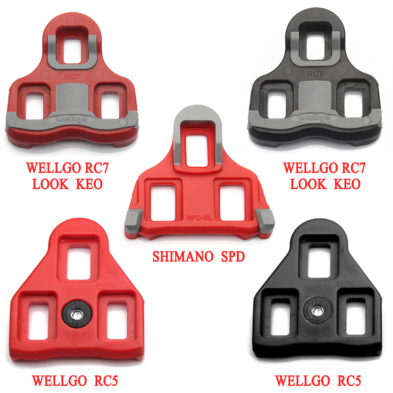 c31b703611b Wellgo RC7 Bicycle Pedals Lock Black Red road bike shoes Cleats Locking  Plate